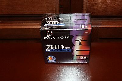 Imation 2HD IBM Formatted Floppy Diskettes Pack of 10 NEW IN PACKAGE