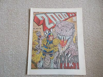 2000AD  Comic, Prog No 74, -July 22nd 1978-JUDGE DREDD- Very good Condition
