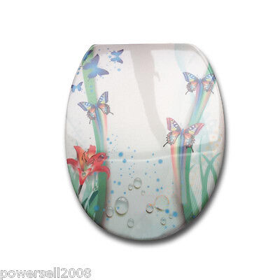 New High-end Urea Resin Printed Butterfly Bathroom Accessories Toilet Cover