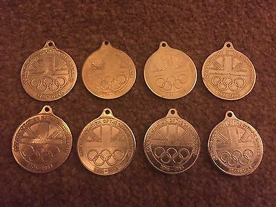 COMMEMORATION OF THE OLYMPIC GAMES MEDAL COLLECTION 1896-1984- x 8