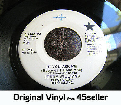 ♚ JERRY WILLIAMS promo 'If You Ask Me' EX- RARE Northern Soul HEAR