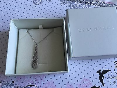 Unusual Hammered Sterling Silver Necklace And Pendant Set