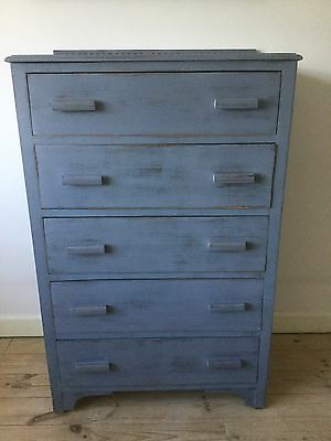 Vintage Lavender Shabby Chic Chest of Drawers