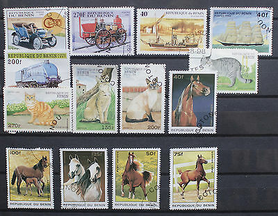 Collection of Stamps from Benin