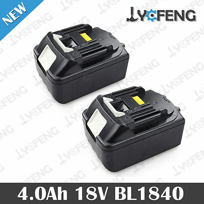 2X Makita BL1840 18v 4.0Ah Li-Ion Replace Cordless Battery for BMR100 LG Cell UK