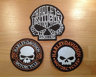 Lot Patch / Ecusson Harley Davidson HD biker skull