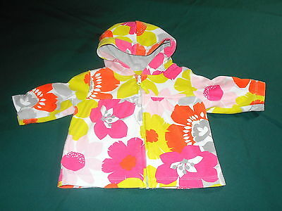 Baby Girl Carter's Size 3 months Floral Hooded Jacket ** CUTE! **