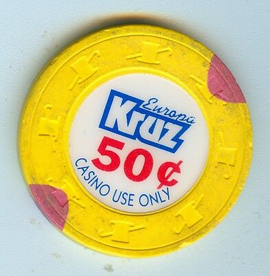 Obsolete 1991 Europa Kruz Casino Cruises At Sea $.50 Chip - Closed In 2000