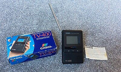 Vintage Casio Colour Tv-400 Pal Analogue Great Condition Boxed