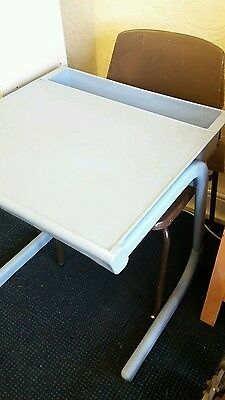 Retro school exam desk and chair from local school in west Yorkshire 1980s