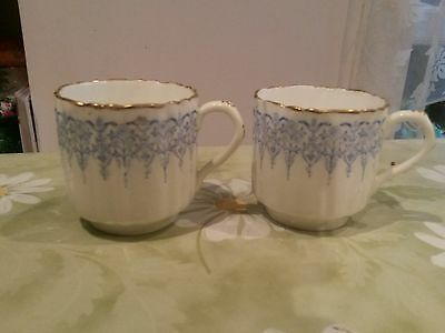 Antique Victorian small Coffee Cups Blue&White C.1886, VGC