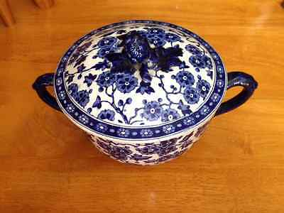 Antique Blue and White Lidded Two Handles CUP / BOWL