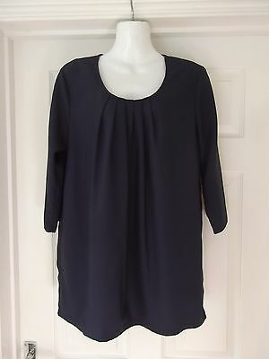 Maternity Top by Mama Licious in Navy Blue Tunic Top Size Medium
