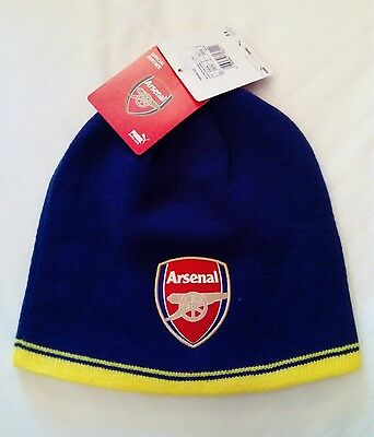 New Official Arsenal Reversible Beanie Hat