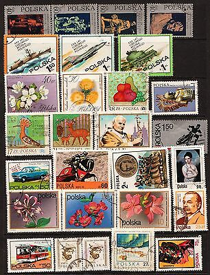 60 Stamps From Poland Used