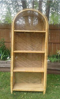 Wicker Etagere Shelving Unit