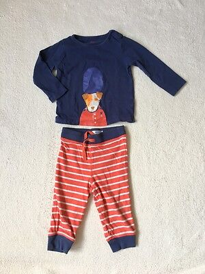 ***Mini Boden baby boys Dog top and joggers trousers set 12-18 months VGC***