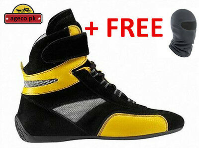 Go kart shoes / Racing boots with free gift balaclava