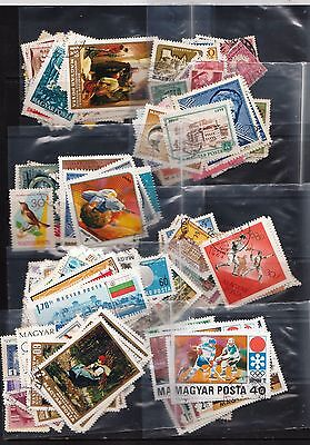 8 Packets Of Hungarian Stamps Used Total Of 250+