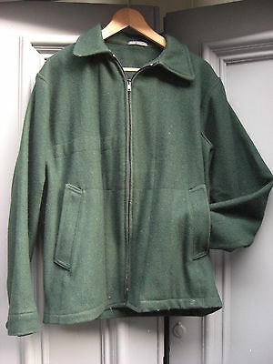 Vintage 1960s/70s Scout Association Green Woolly Wind-cheater Jacket 40 chest