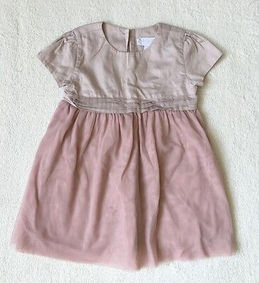 ***The Little White Company baby girl Pink dress 12-18 months - WORN ONCE***