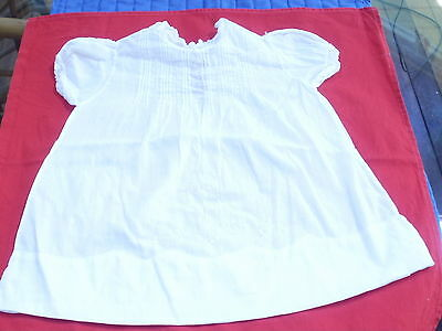 Vintage 1940's Hand Made Imported Fine Cotton Baby/Infant Dress, VG Cond.