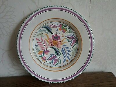 Poole Pottery Dorset flat 10.75 inch Bowl late 1930s ? ( Carter Stabler Adams )