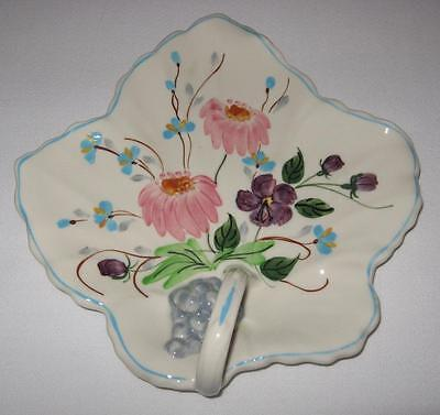 Blue Ridge Southern Potteries TUSSIE MUSSIE Maple Leaf Relish Plate, EUC