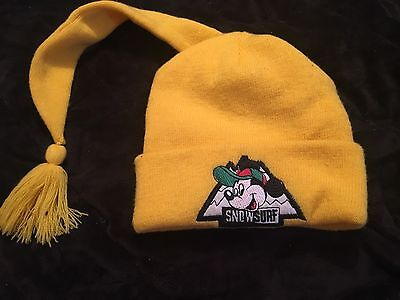 Disney Mickey Mouse Stretchy Snow Surf Hat Yellow