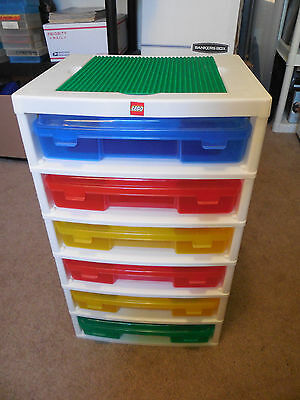 Lego Iris 6 Drawer Storage Container Retired Nice and Clean