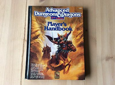 Advanced Dungeons And Dragons Players Handbook 2nd Edition Great Condition