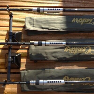 3 x century fs focal system carp rods 12ft 3.5lb with ss20 stainless reel seats