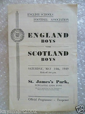 1949 England Boy v Scotland Boy International Schools match, 14th May;St James's