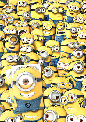 Official DESPICABLE ME MINIONS 2 x Gift Wrapping Sheets & 2 x Tags *FREE UK POST