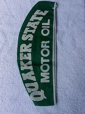 Vintage  Quaker State Motor Oil Gas Station Attendant Hat Must See !