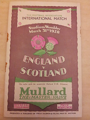 1928 ENGLAND v. SCOTLAND (The Wembley Wizzards)