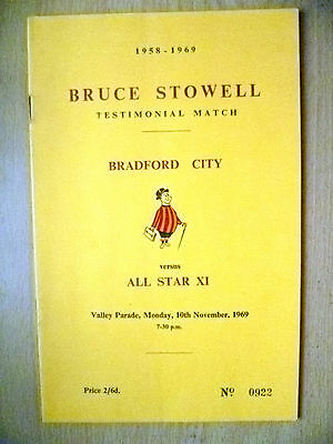 1969 Bruce Stowell Testimonial Match- BRADFORD CITY v ALL STAR XI