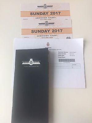 Goodwood Festival Of Speed Tickets Sunday 2nd July 2017 2 available