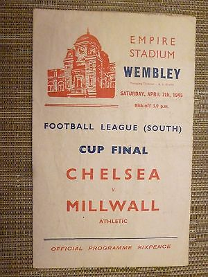 1945 League Cup Final - CHELSEA v MILLWALL (Original)