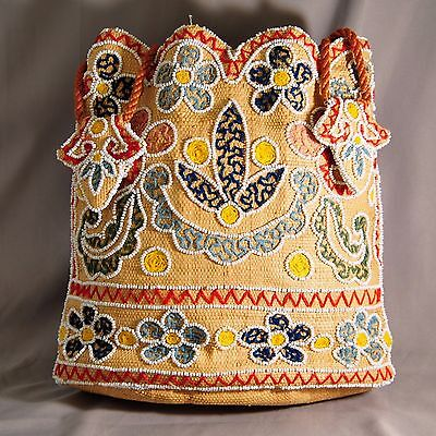 Antique Native American Indian Northwest Coast First Nations Beaded Purse