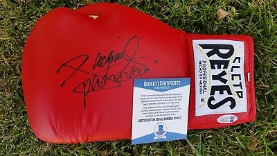 "Manny ""pacman"" Pacquiao Signed Cleto Reyes Glove Beckett Coa Authentic"