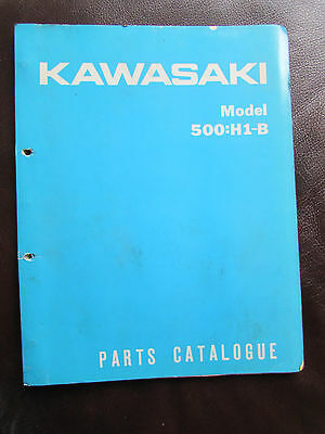 Kawasaki Model 500: H1-B Parts Catalogue 1971-Rare