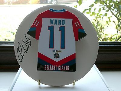 Colin Ward, Belfast Giants, Rare & Stunning Autographed/signed Plaque.