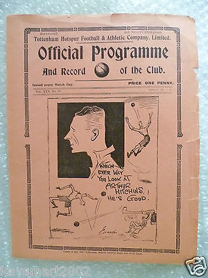 1938 TOTTENHAM HOTSPUR Res. v CHARLTON ATHLETIC Res. (Original*VG) RARE