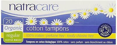 Organic Cotton Tampons Natracare Non Applicator Regular 80 Total Count NEW