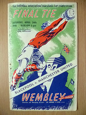1948 FA CUP FINAL Official Programme- BLACKPOOL v MANCHESTER UNITED (Wembley)