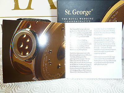 """HARDY St. GEORGE 3"""" ROYAL WEDDING COMMEMORATIVE FLY REEL 94 of 100 - BRAND NEW"""