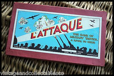 1920's L'Attaque Board Game - Vintage Military Tactics Game - Britain & France
