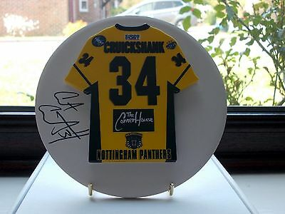 Curtis Cruickshank, Nottingham Panthers, Rare & Stunning Auto'd/signed Plaque.