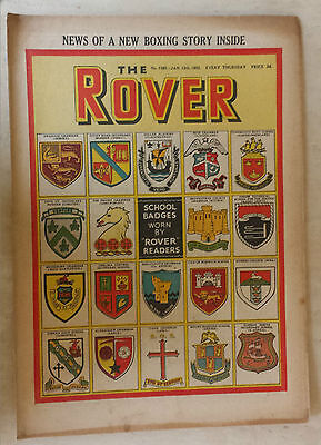 Comic- THE ROVER, NO 1385, 12th January 1952
